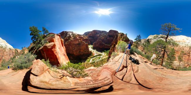 Zion Canyon from Scout Lookout Equirectangular preview image